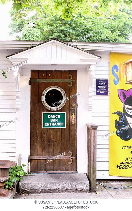 Dance Bar Entrance, Atlantic House Bar, Provincetown, Massachusetts, USA