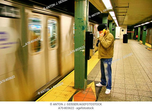 USA, New York City, Manhattan, subway