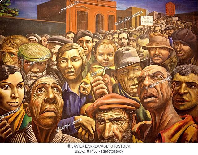 Manifestación. Antonio Berni. Museo de Arte Latinoamericano de Buenos Aires. MALBA. Fundación Costantini. Buenos Aires. Argentina