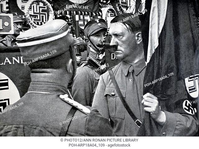 Adolf Hitler 1889-1945. German politician and the leader of the Nazi Party, at a Rally World History Archive