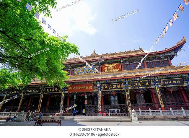 Main hall(Daxiongbaodian), Zhaojue temple(Zhaojuesi), Chengdu, Sichuan Province, PRC