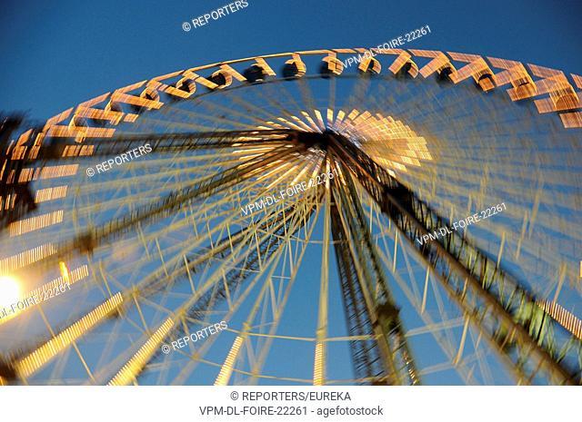 Belgique,Bruxelles,foire du Midi, la grande roue, Belgium,Brussels funfair; Reporters / EUREKA
