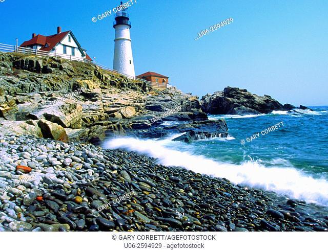 Portland Head Lighthouse at Portland, Maine, USA