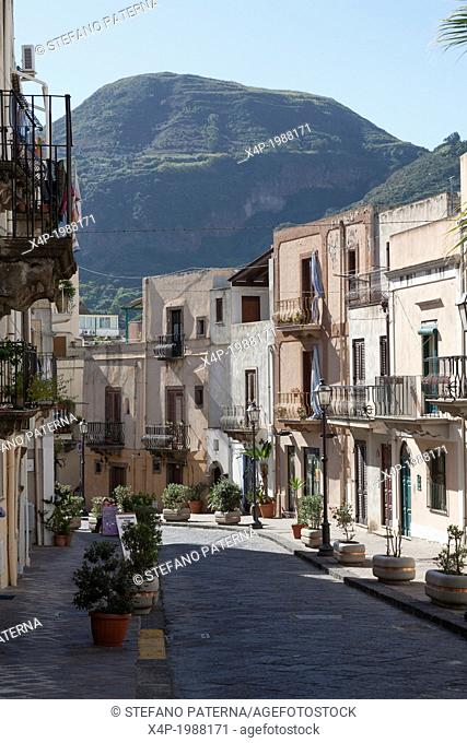 Streets and Alleys of Lipari, Aeolian Islands, Italy