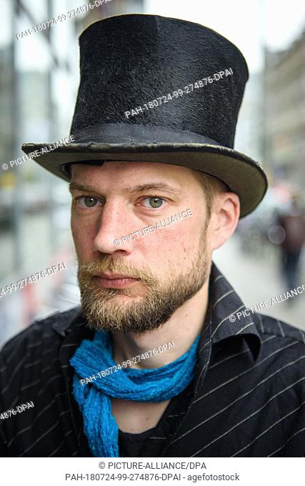 23 April 2018, Germany, Berlin: Juha Jaervinen, participant of the experiment Basic Income in Finland, strolls around the district of Kreuzberg