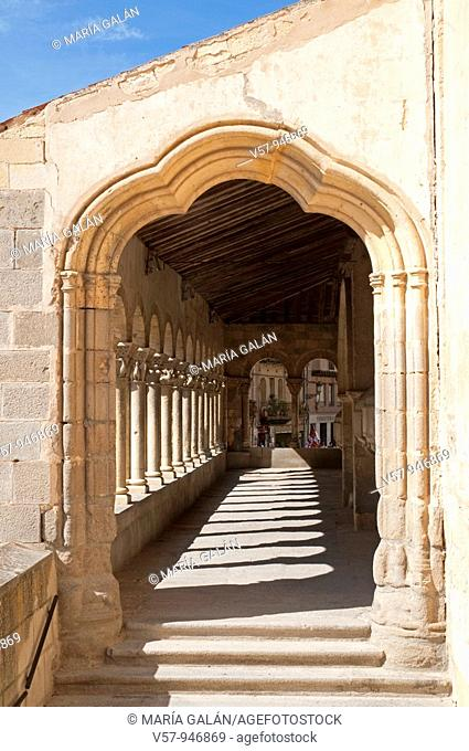 Portico of San Martín church. Segovia, Castilla Leon, Spain
