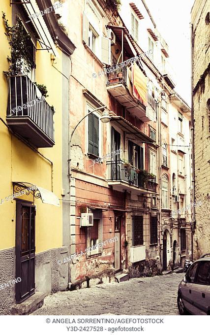Alleyway in Naples Italy
