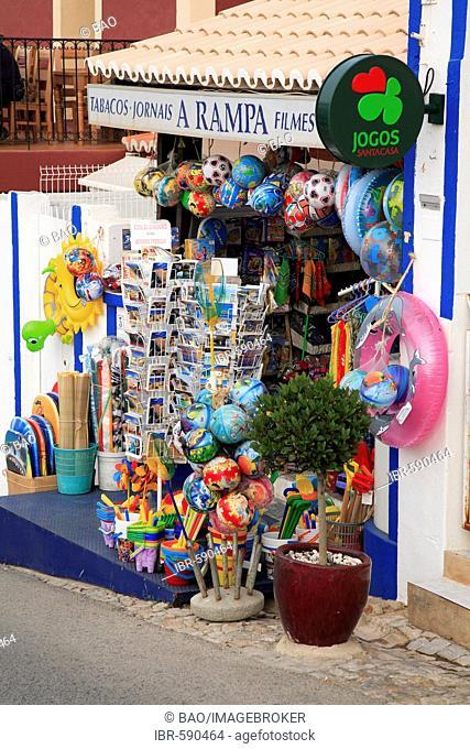 Souvenir shop in Carvoeiro, Algarve, Portugal