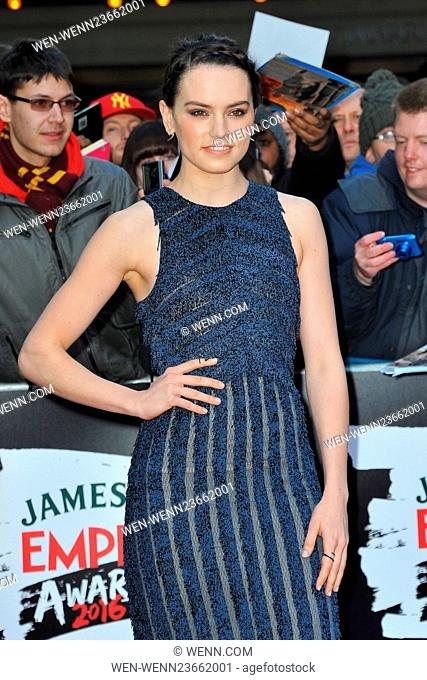 Jameson Empire Awards 2016 at the Grosvenor House in London, England Featuring: Daisy Ridley Where: London, United Kingdom When: 20 Mar 2016 Credit: WENN