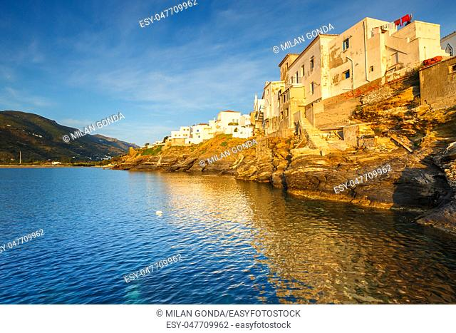 Chora of Andros island early in the morning.