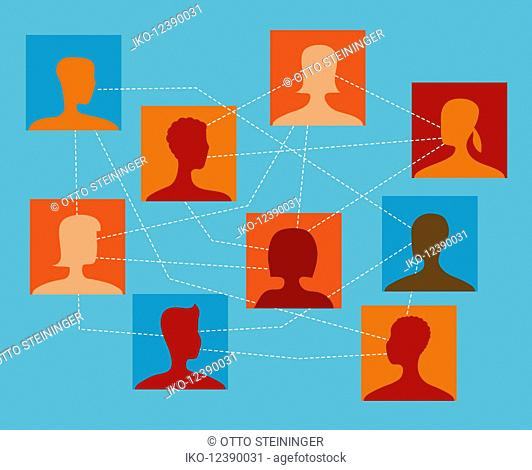 People connected in social network