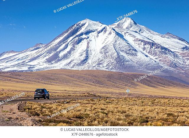 Menique volcano,Altiplano,Puna, near Socaire, Atacama desert. Region de Antofagasta. Chile