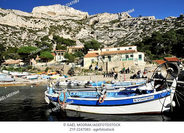 Calanque of Sormiou, in the south of Marseille, France
