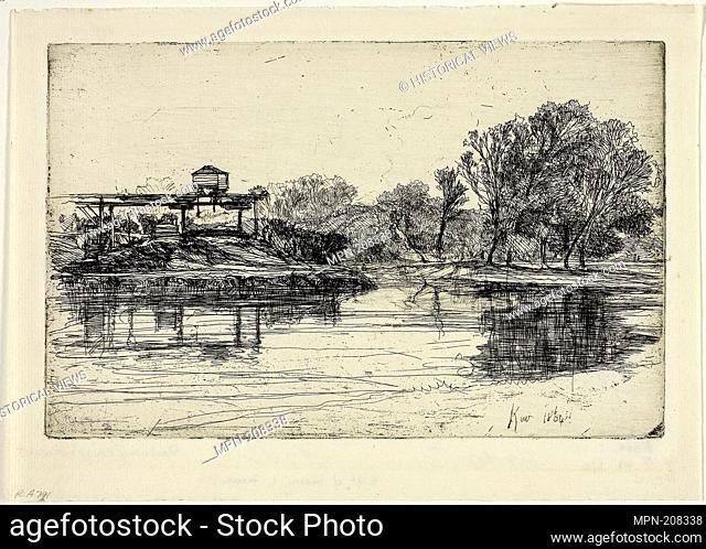 Railway Encroachment - 1864 - Francis Seymour Haden English, 1818-1910 - Artist: Francis Seymour Haden, Origin: England, Date: 1864