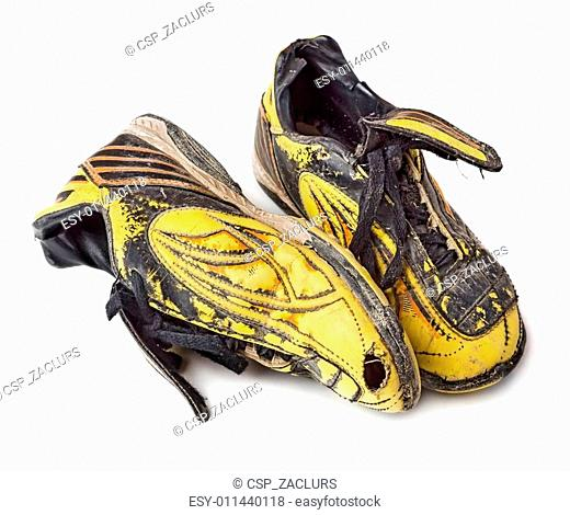 Dirty football shoes
