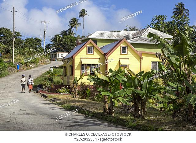 Barbados. Chattel House (Steep Roof, No Overhang) Construction in the Countryside