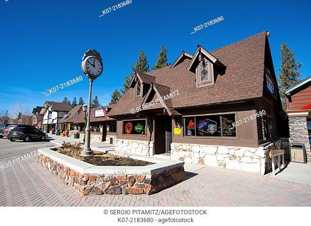 Village Drive, Big Bear Lake, California, USA