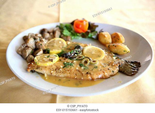 trout fish with lemon sauce