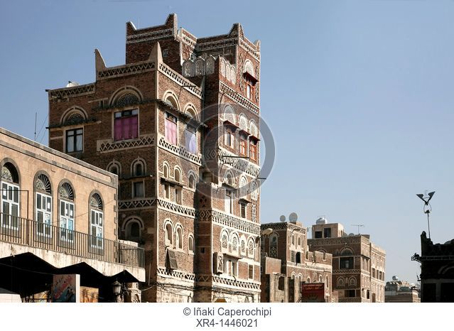 Architecture of the Old City, Old City, World Heritage Site by UNESCO, Sanaa, Sana, Yemen