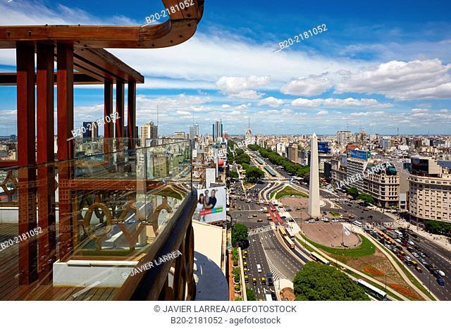Hotel Panamericano. Obelisco. Avenida 9 de Julio. Buenos Aires. Argentina