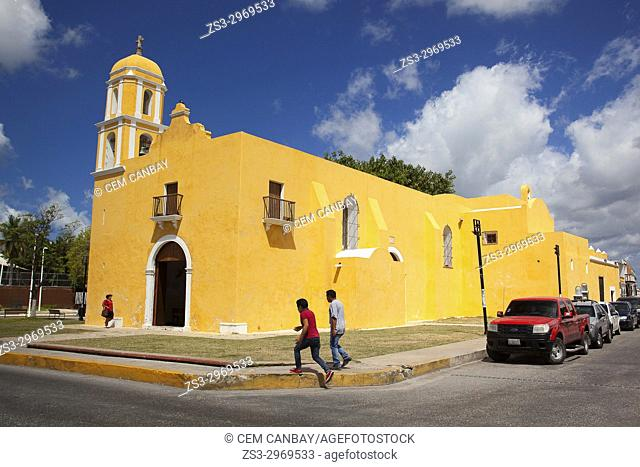 View to the Temple Of Guadalupe-Templo De Guadalupe, Campeche City, Campeche State, Mexico, Central America