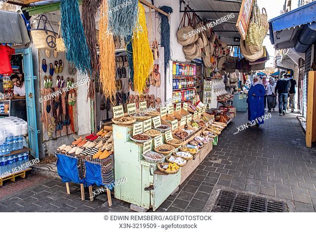 Markets in an Alleyway, Essaouira, Marrakesh-Safi, Morocco