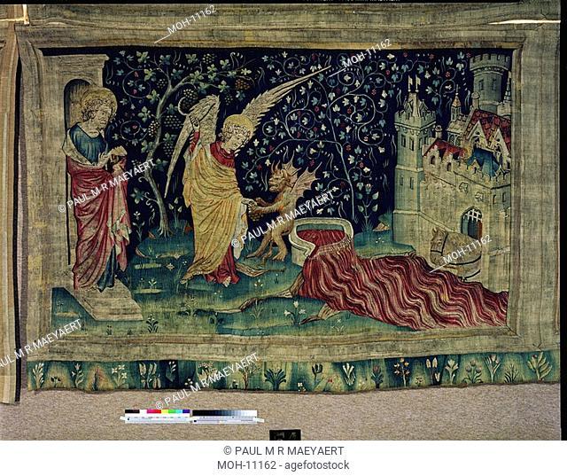 La Tenture de l'Apocalypse d'Angers, La cuve déborde 1,50 x 2,49m