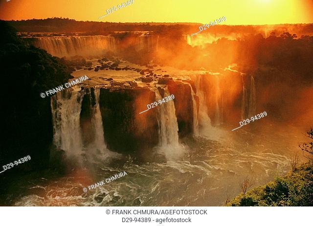 Iguazu Falls. Argentina-Brazil border