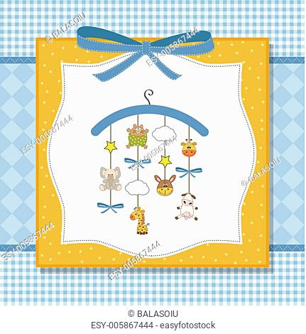 Baby Boy Birthday Card With Elephant Stock Photos And Images Age