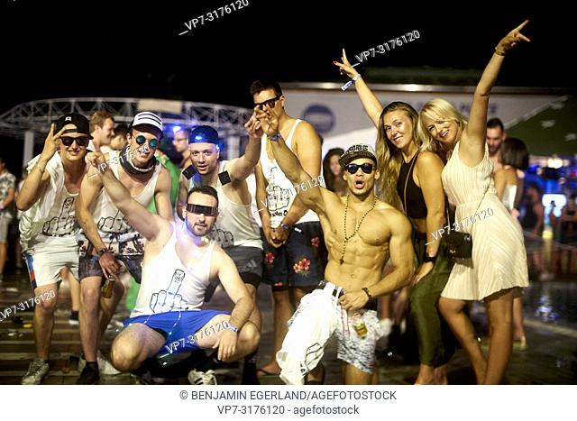 party people at music festival Starbeach Chersonissos, Crete, Greece, at 06. August 2018
