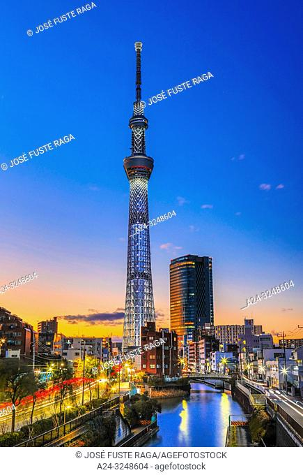 Japan, Tokyo City, Sky Tree Tower