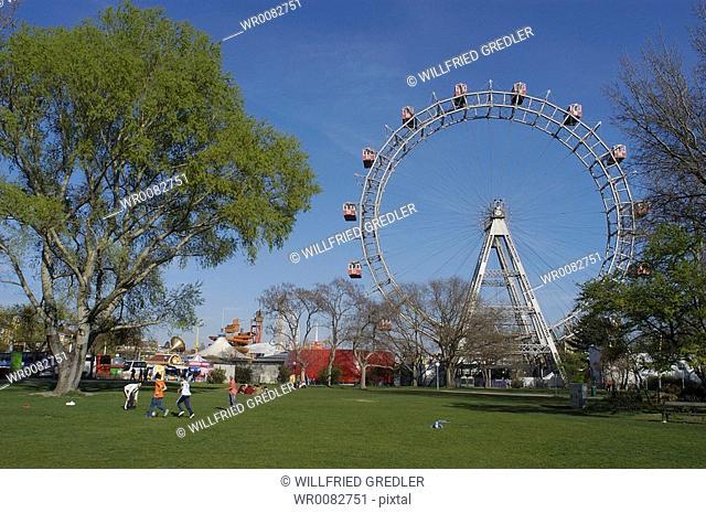 Viennese ferris wheel in the Wurstelprater