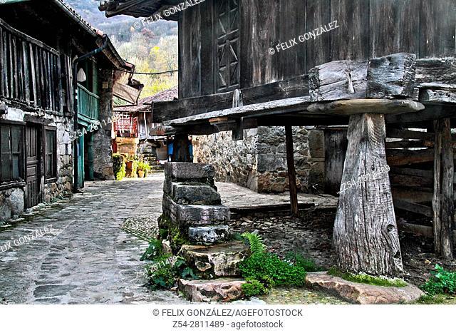 Horreo at Soto de Aguas, Asturias Spain