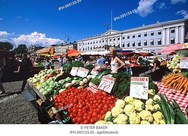 Helsinki - The waterfront market in Kauppatori Square