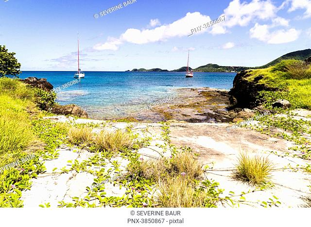 Old wharf where whales where hoisted up to be carved up, Petit Nevis, Saint-Vincent and the Grenadines, West Indies
