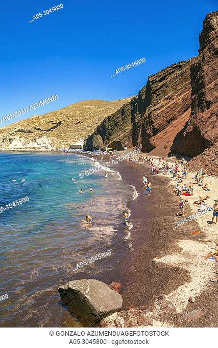 Red Beach. Akrotiri. Santorini Island. Ciclades Islands. Greece