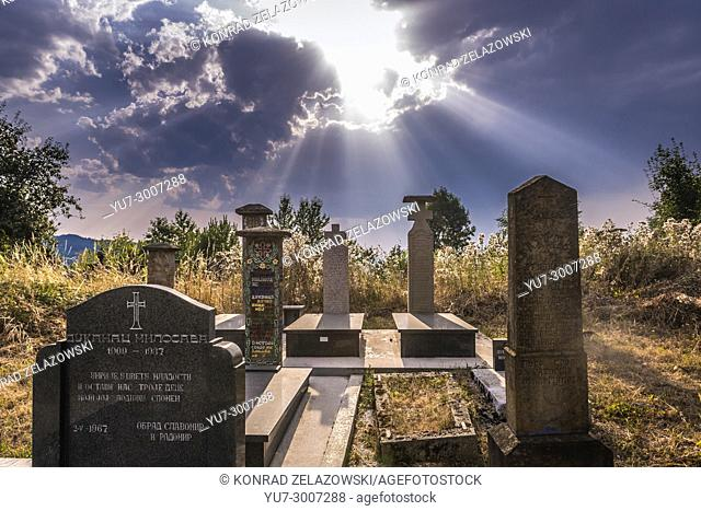 Small cemetery on a mountain between Guca town and Vuckovica village in Lucani municipality, Moravica District of Serbia