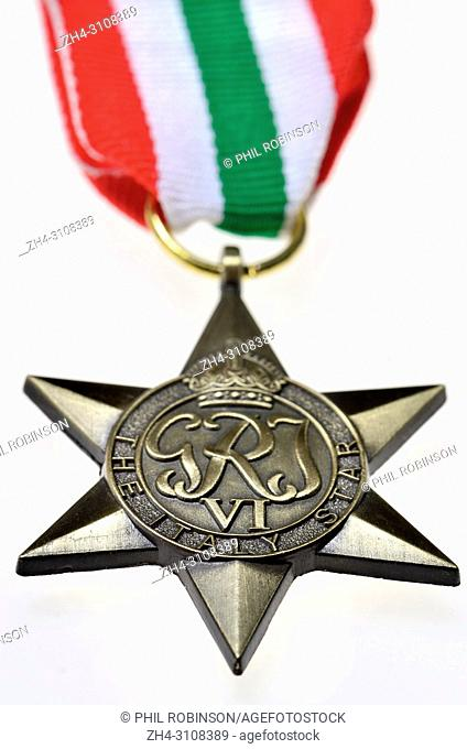 The Italy Star - Second World War medal instituted by May 1945 for subjects of the British Commonwealth who served in the Second World War