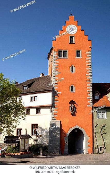 Obertor gate tower, Meersburg, Baden-Württemberg, Germany