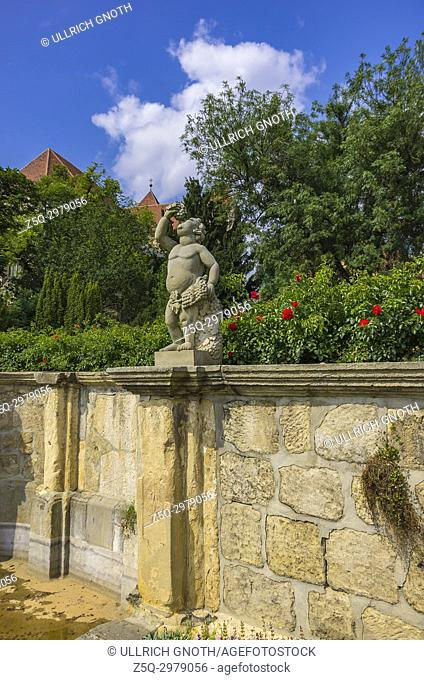 Sculpture in the monastery gardens of Quedlinburg, Saxony-Anhalt, Germany