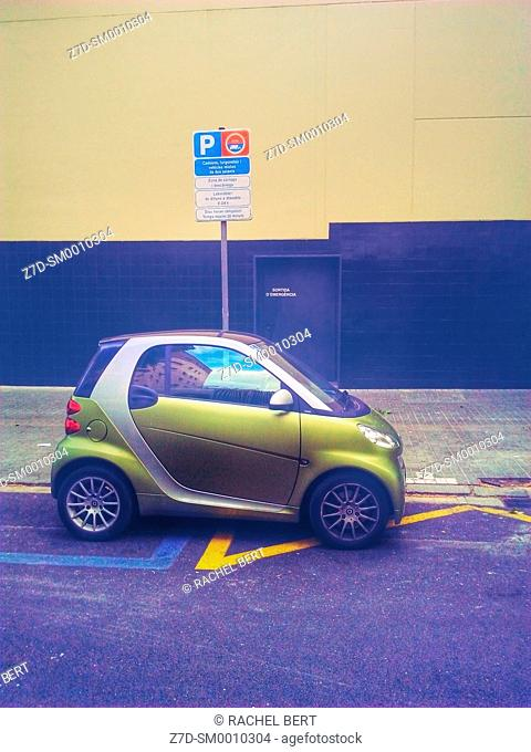 Small car parked