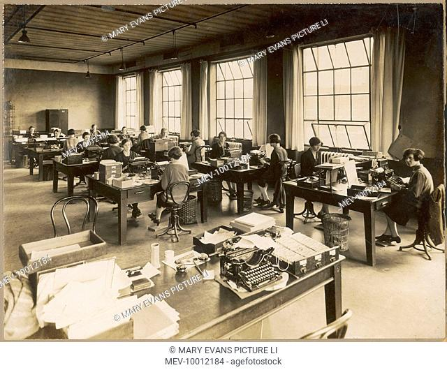 Typing pool in 'Lotus Shoe Factory' in Stafford (the Invoicing Department)