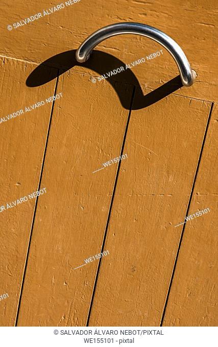 Detail of door with cast shadow