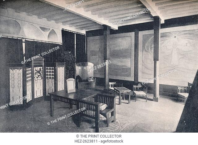 'The Vestibule of the Dutch Section at the Turin Exhibition', 1902. The Turin Exhibition was an important international Arts-and-Crafts exhibition held in Turin