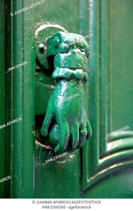 Door knocker, Bilbao, Biscay, Basque Country, Euskadi, Spain, Europe
