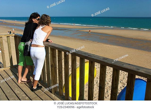 Islantilla beach, Lepe, Huelva province, Region of Andalusia, Spain, Europe