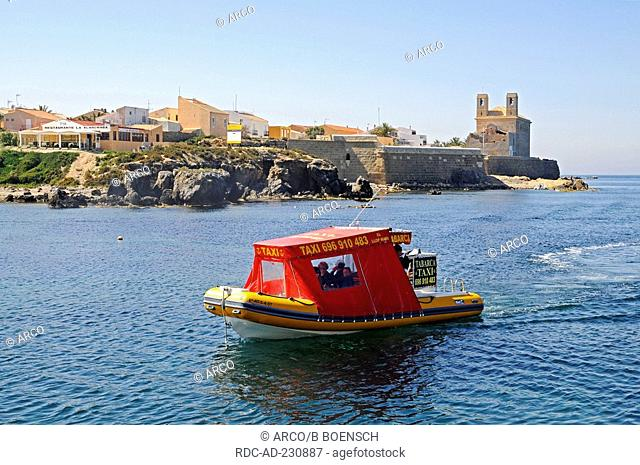 Water taxi, Isla Tabarca, Santa Pola, Costa Blanca, Spanien