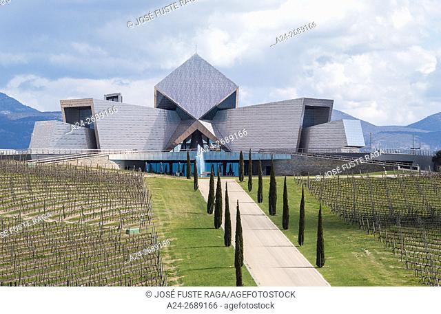 Spain, Huesca Province, Barbastro City, Irius Wine Cellar