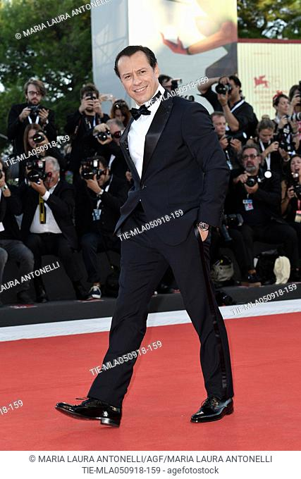Stefano Accorsi during the Red carpet of the film Vox Lux at the 75th Venice Film Festival, Venice, ITALY-04-09-2018