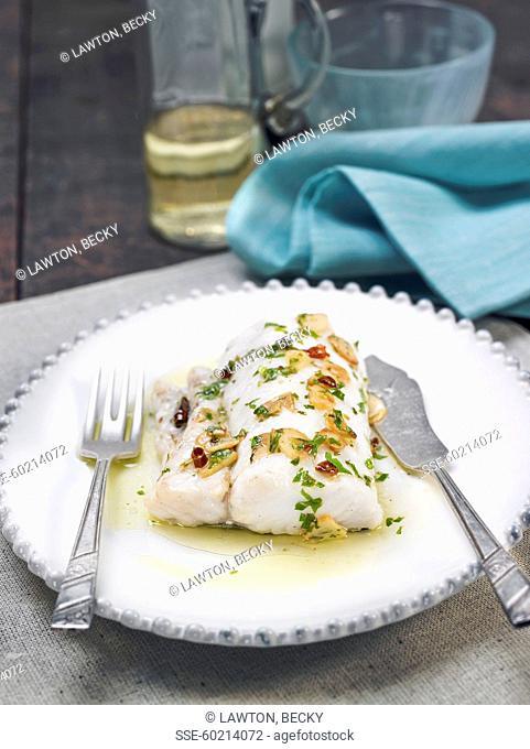 Salt-cod with garlic